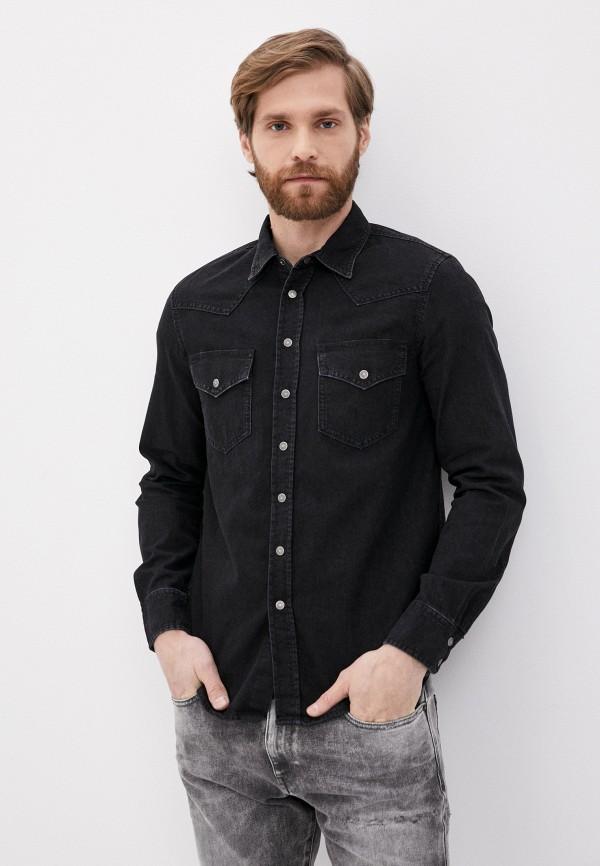 мужская джинсовые рубашка diesel, черная