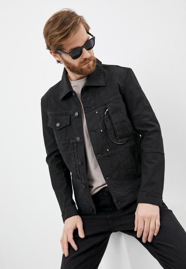 мужская джинсовые куртка diesel, черная