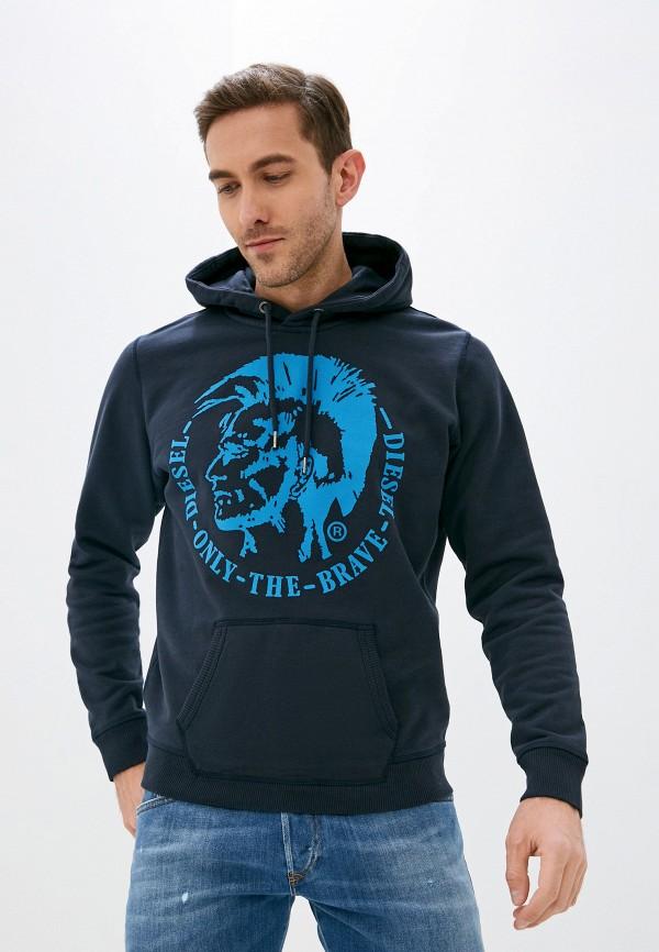 мужские худи diesel, синие