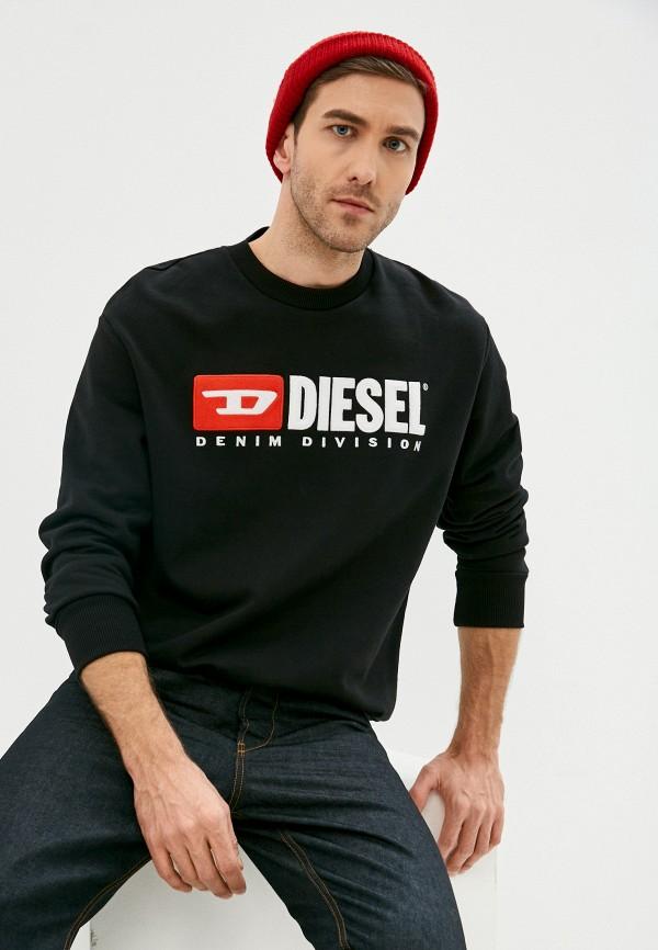 мужской свитшот diesel, черный