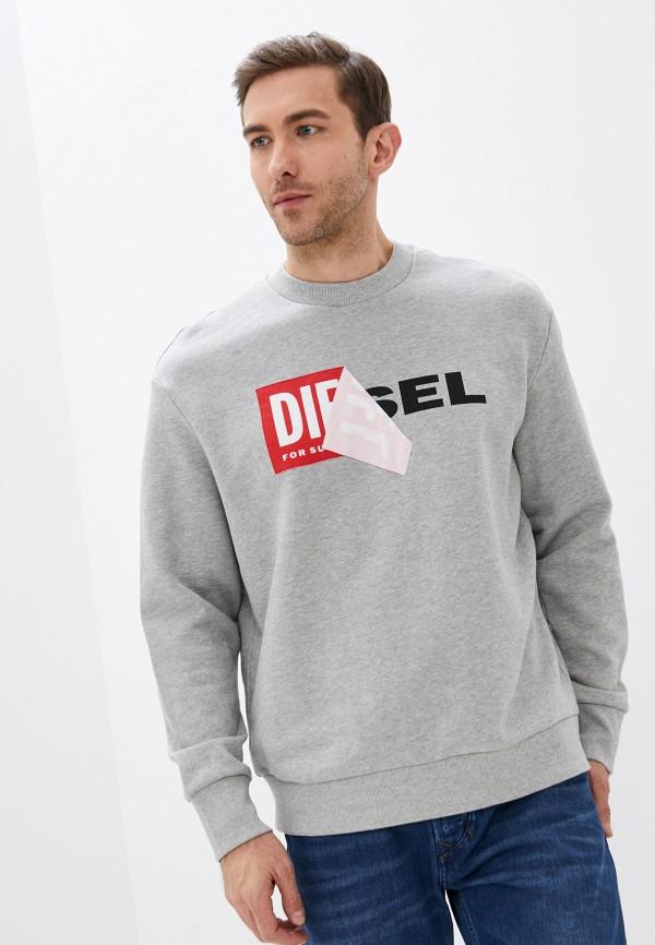 мужской свитшот diesel, серый