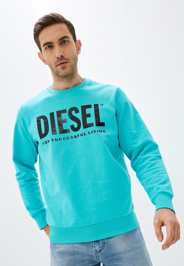 мужской свитшот diesel, голубой