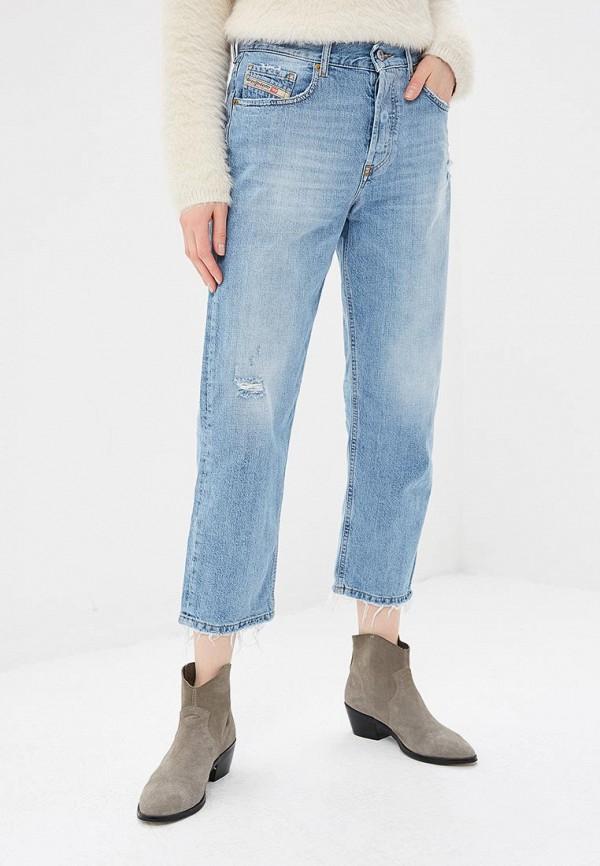 женские прямые джинсы diesel, голубые