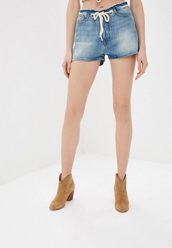 женские джинсовые шорты diesel, голубые