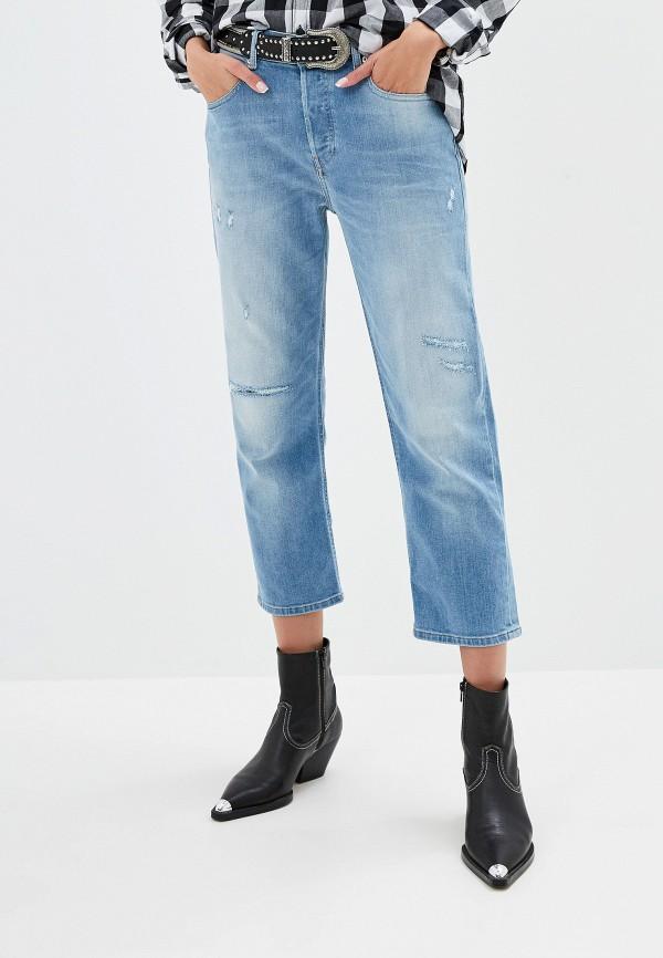 женские джинсы бойфренд diesel, синие