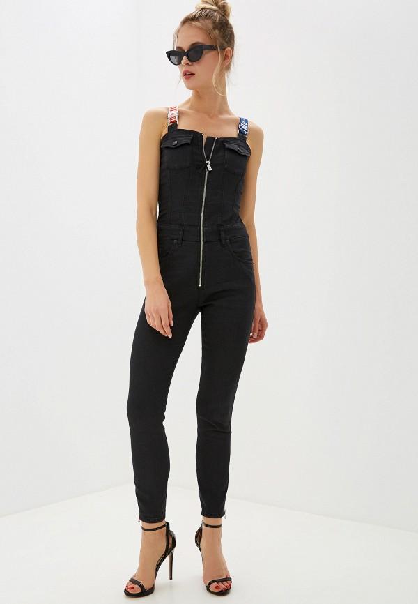 женский джинсовые комбинезон diesel, черный