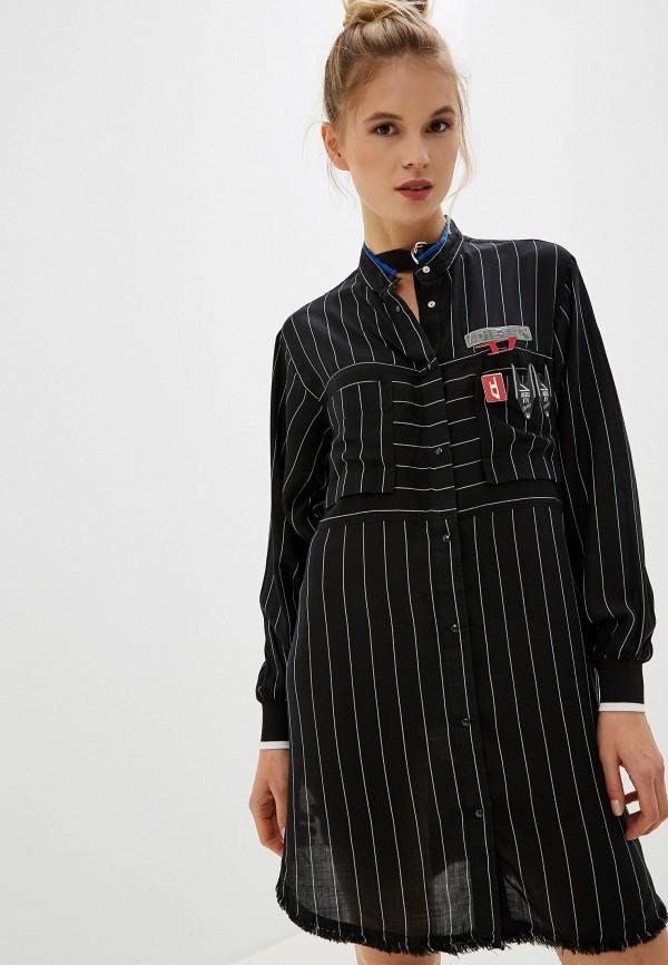 женское повседневные платье diesel, черное