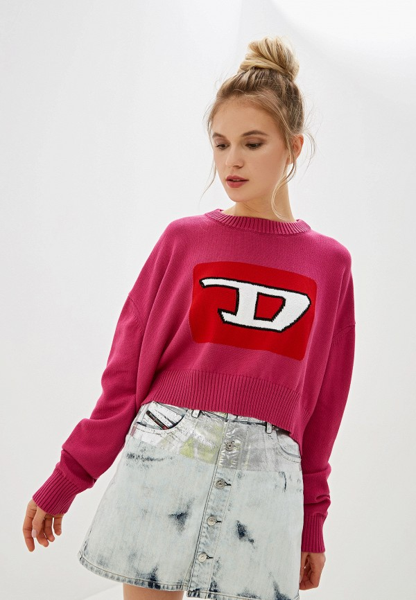 женский джемпер diesel, розовый