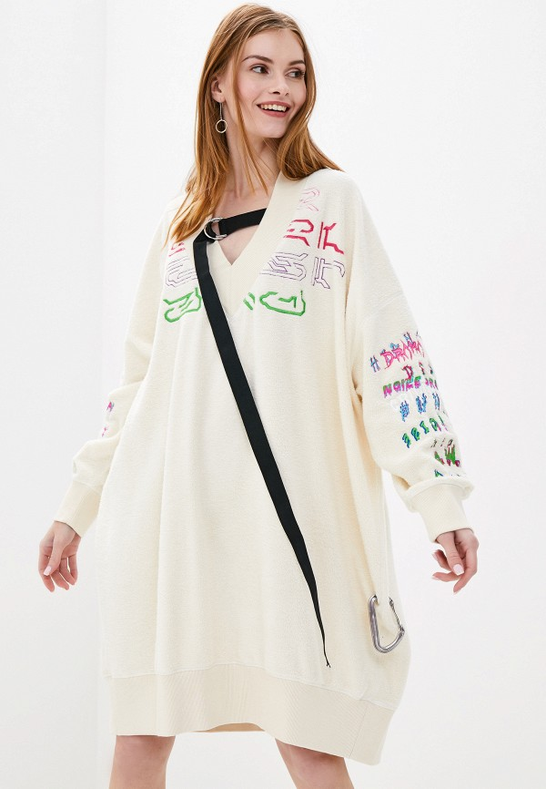 женское платье diesel, белое