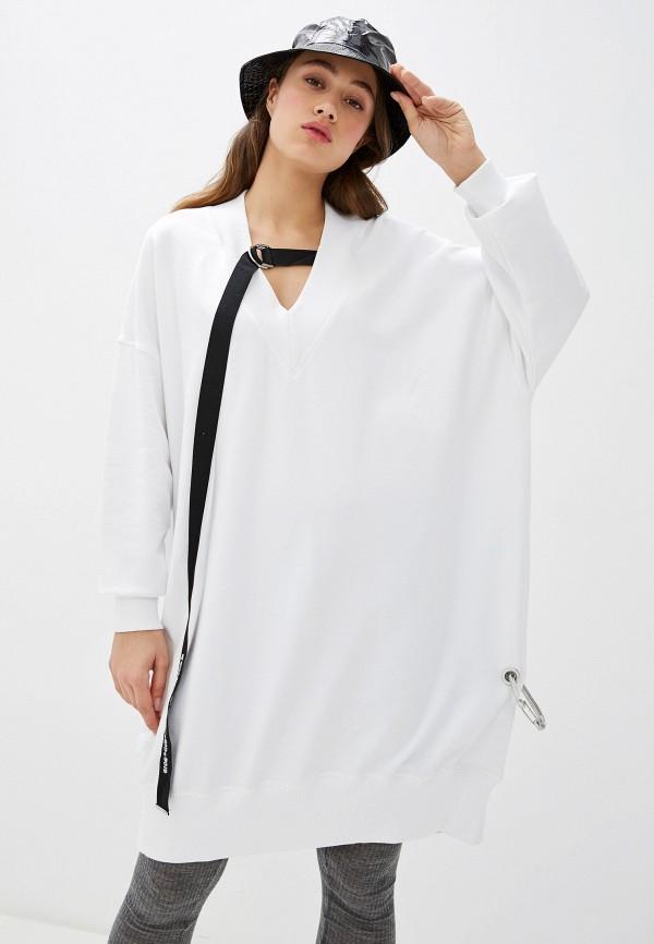 женское платье-толстовки diesel, белое
