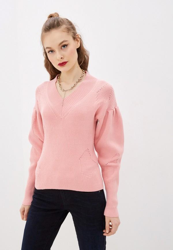 женский пуловер diesel, розовый