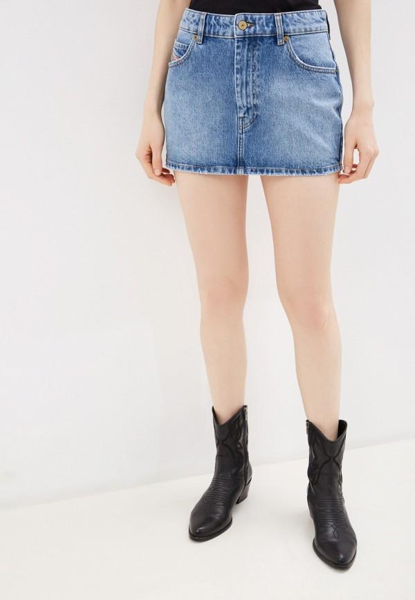 женская джинсовые юбка diesel, голубая