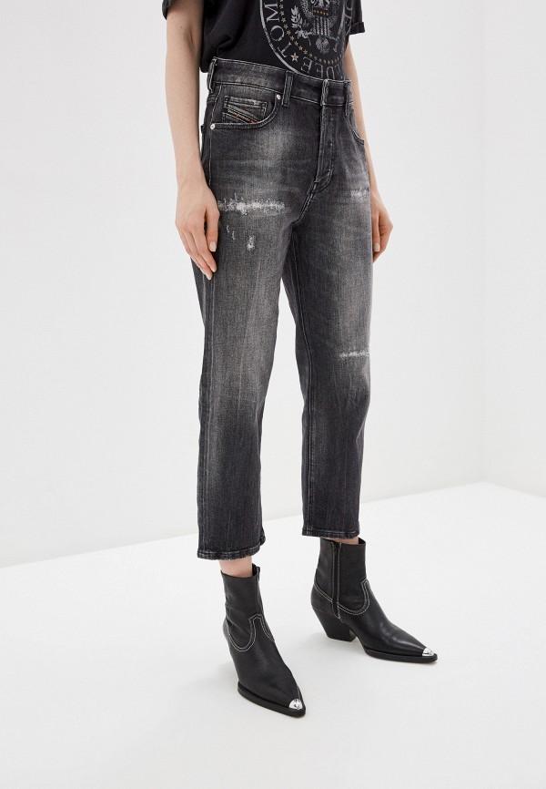 женские прямые джинсы diesel, серые