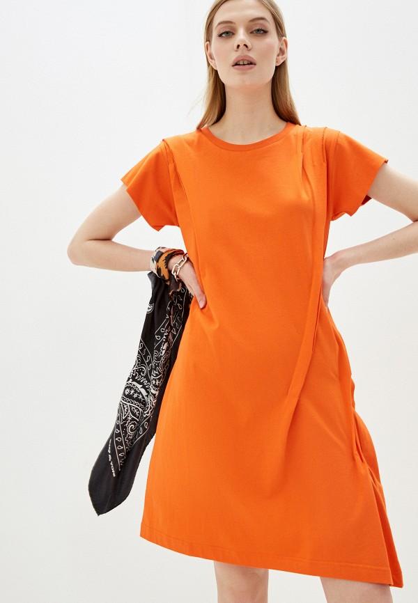 женское платье-футболки diesel, оранжевое