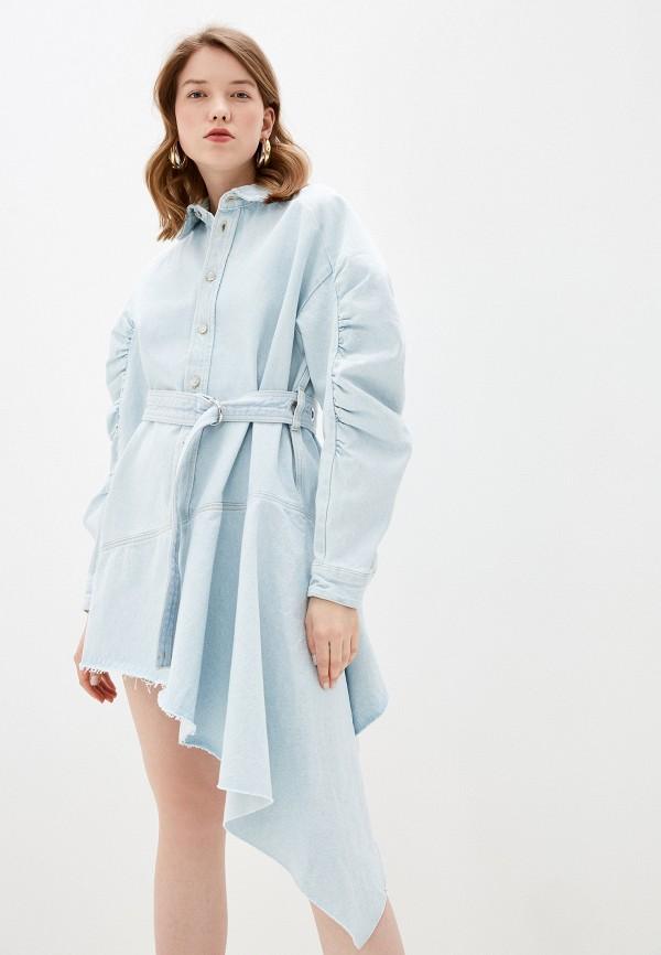 женское джинсовые платье diesel, голубое