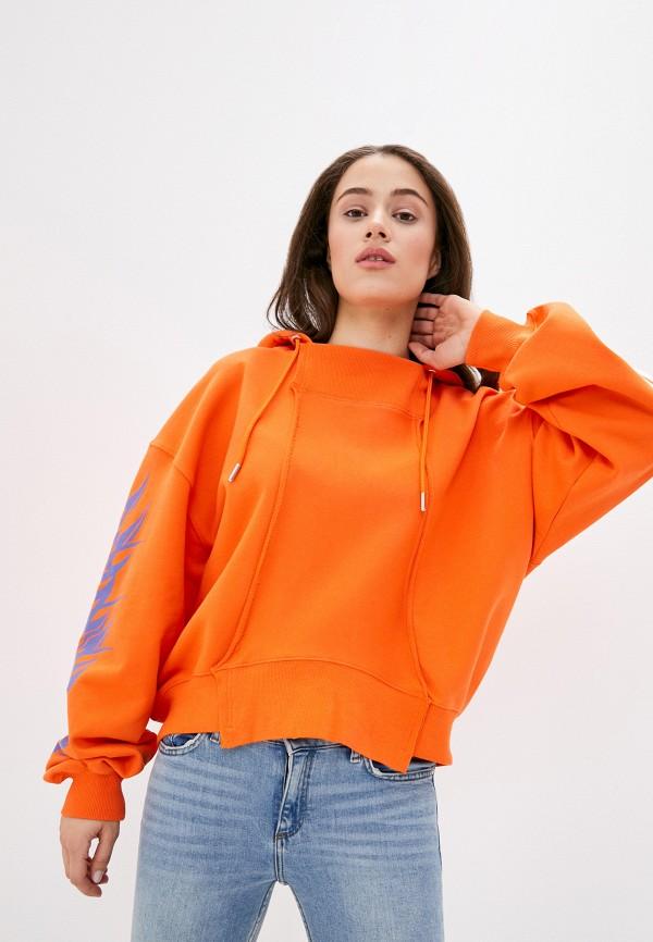 женские худи diesel, оранжевые