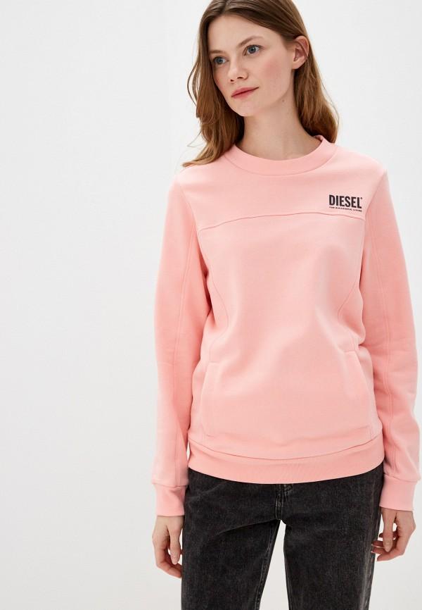 женский свитшот diesel, розовый