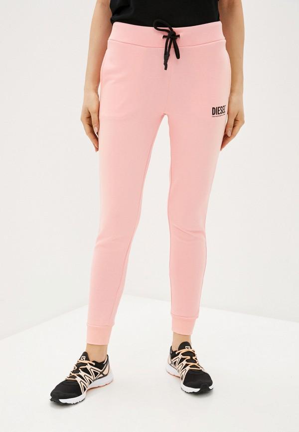 женские спортивные брюки diesel, розовые