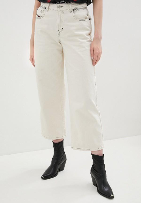 женские джинсы клеш diesel, белые