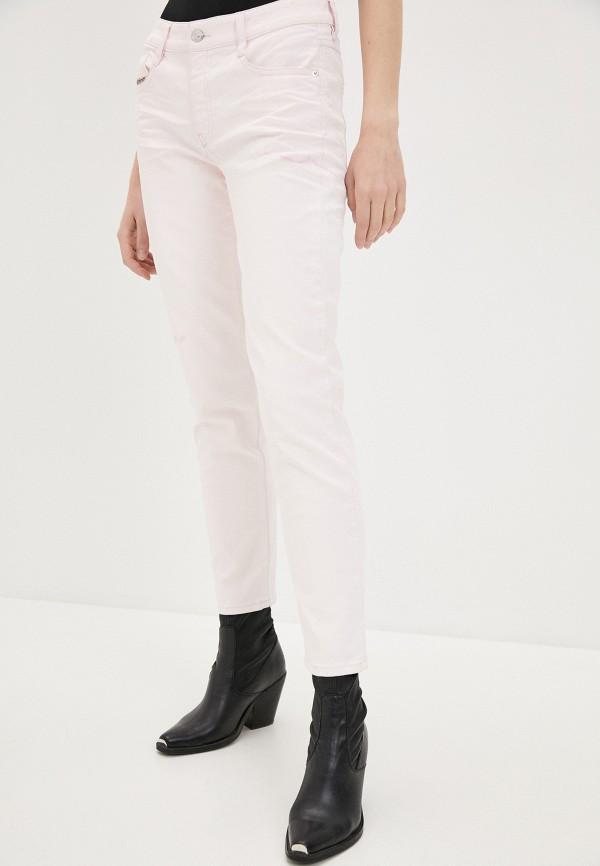 женские повседневные брюки diesel, розовые