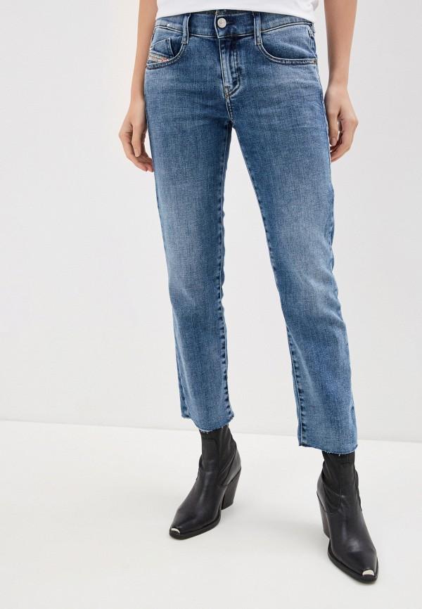 женские джинсы скинни diesel, голубые