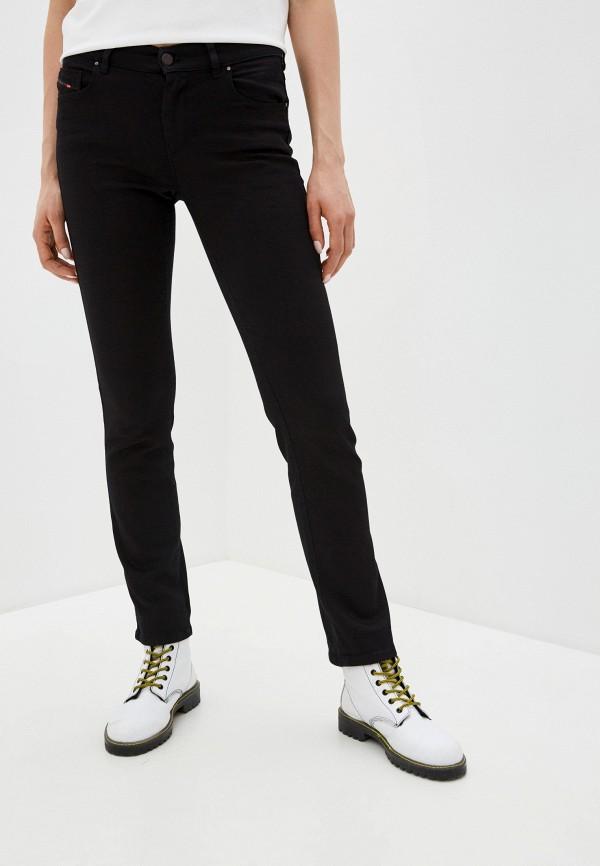 женские прямые джинсы diesel, черные