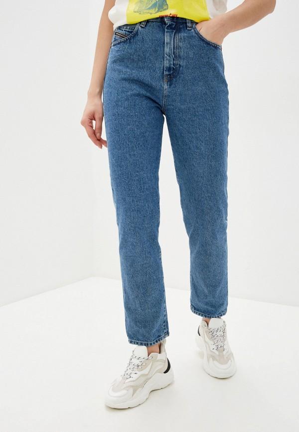 женские джинсы-мом diesel, синие