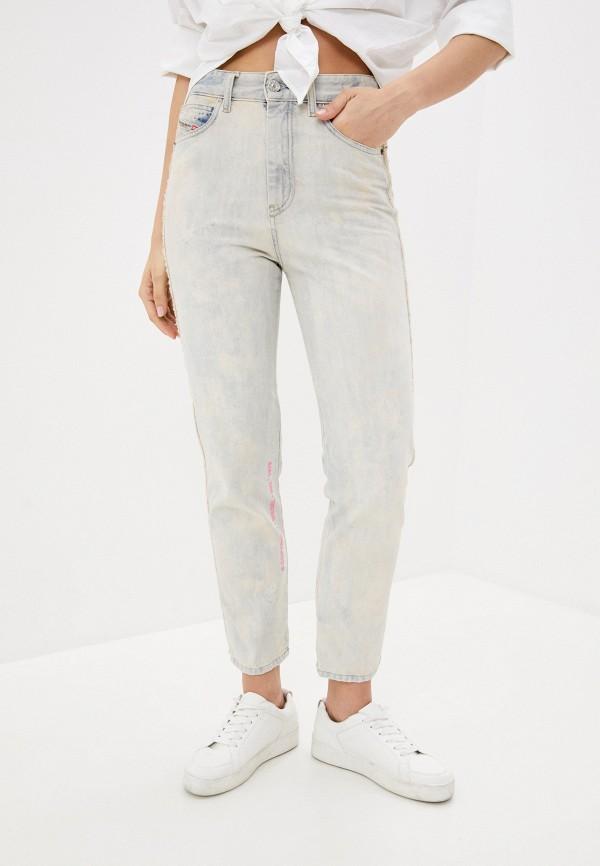 женские джинсы-мом diesel, голубые