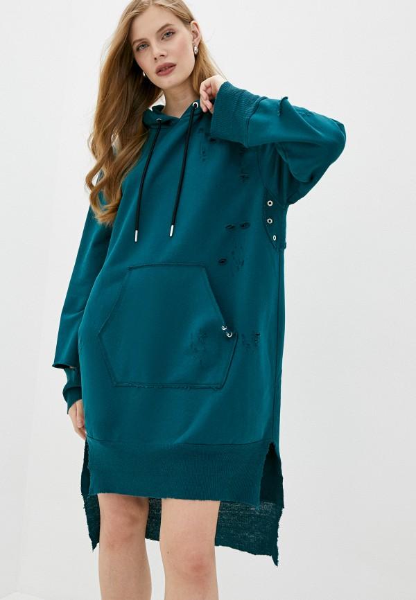 женское платье diesel, зеленое