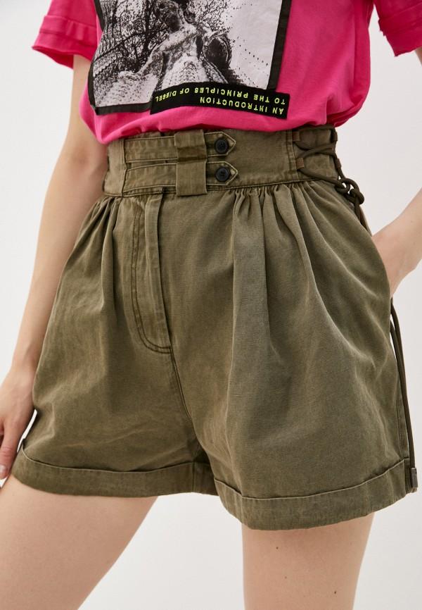 женские повседневные шорты diesel, хаки