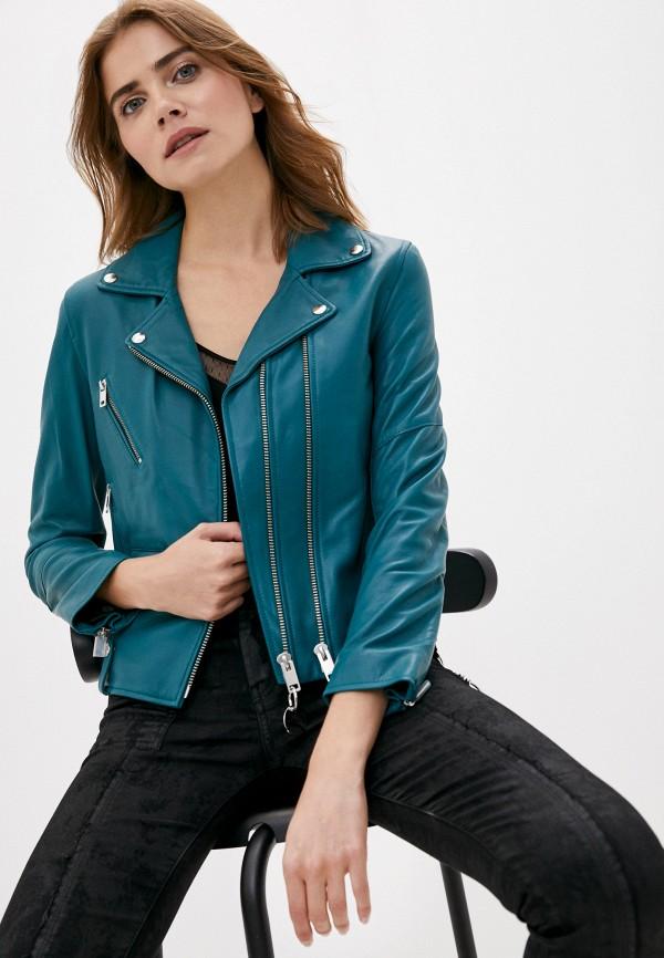 женская куртка diesel, зеленая