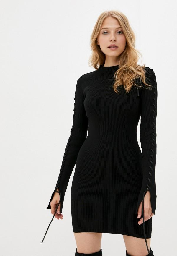 женское платье diesel, черное