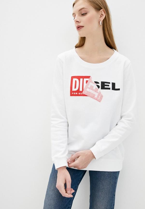 женский свитшот diesel, белый
