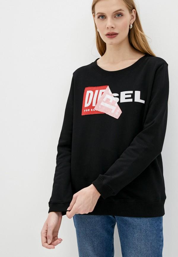 женский свитшот diesel, черный