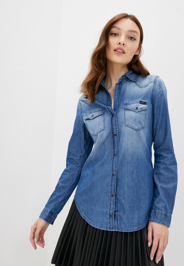 женская джинсовые рубашка diesel, голубая