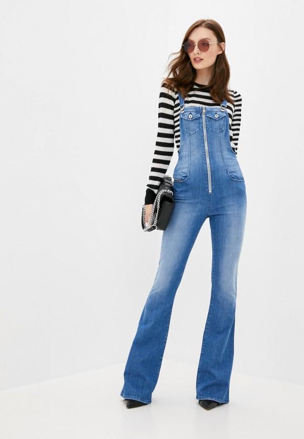 женский джинсовые комбинезон diesel, синий