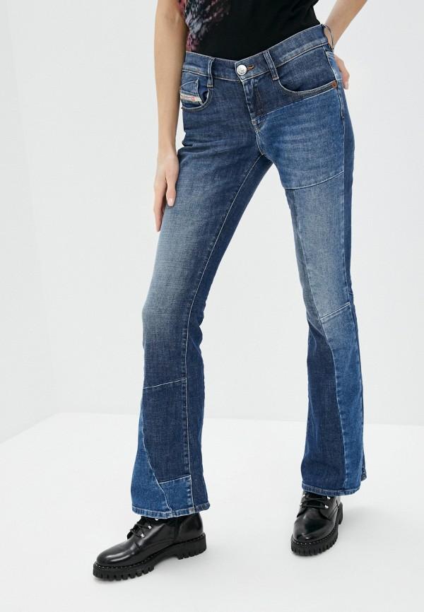 женские джинсы клеш diesel, синие