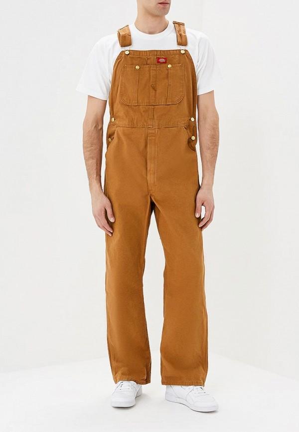 мужской джинсовые комбинезон dickies, коричневый