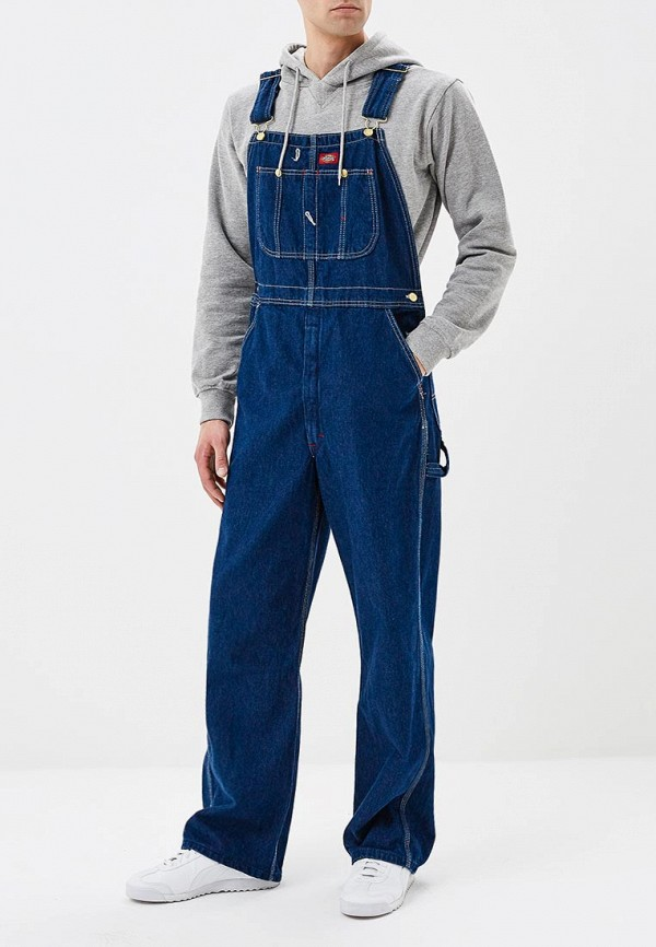мужской джинсовые комбинезон dickies, синий
