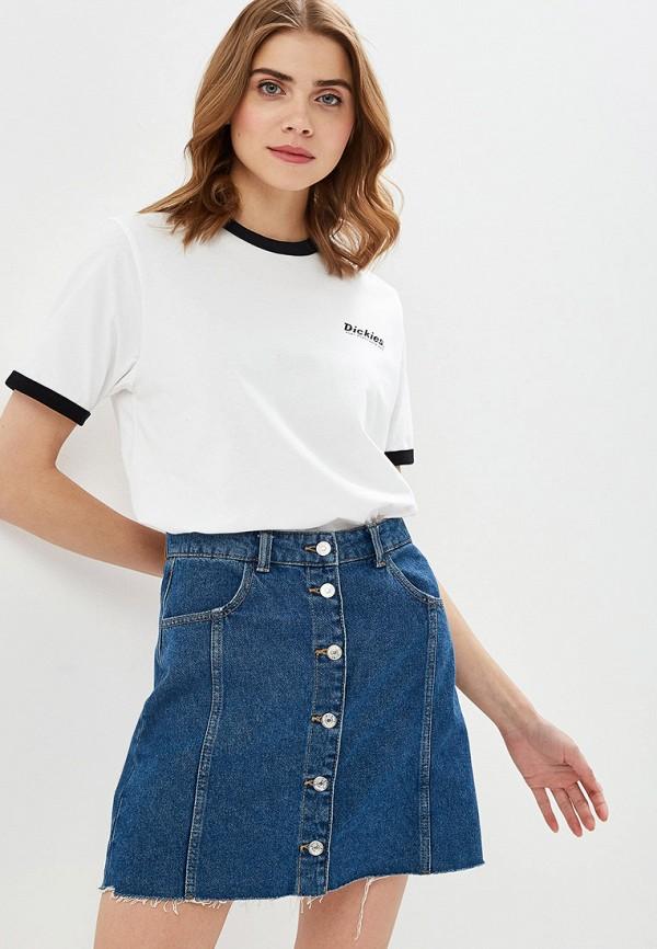 женская спортивные футболка dickies, белая