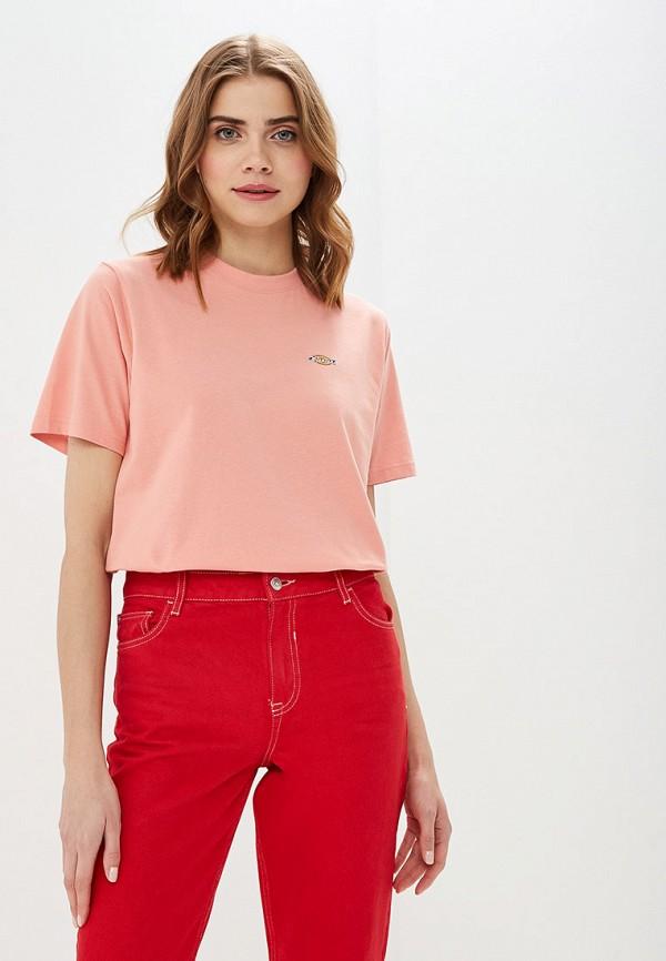 женская спортивные футболка dickies, розовая