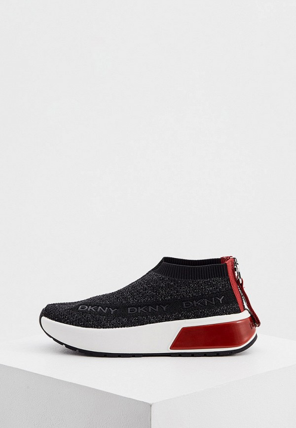 женские низкие кроссовки dkny, черные