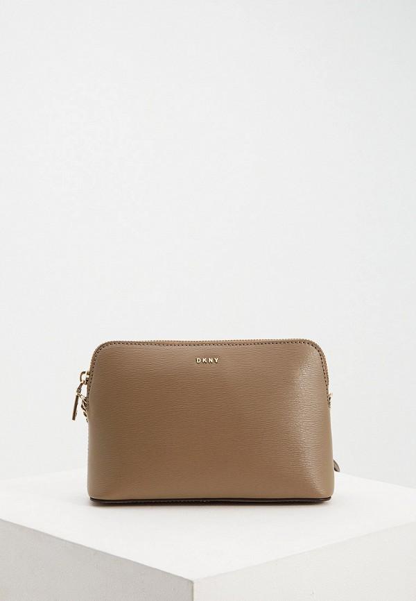 женская сумка dkny, бежевая