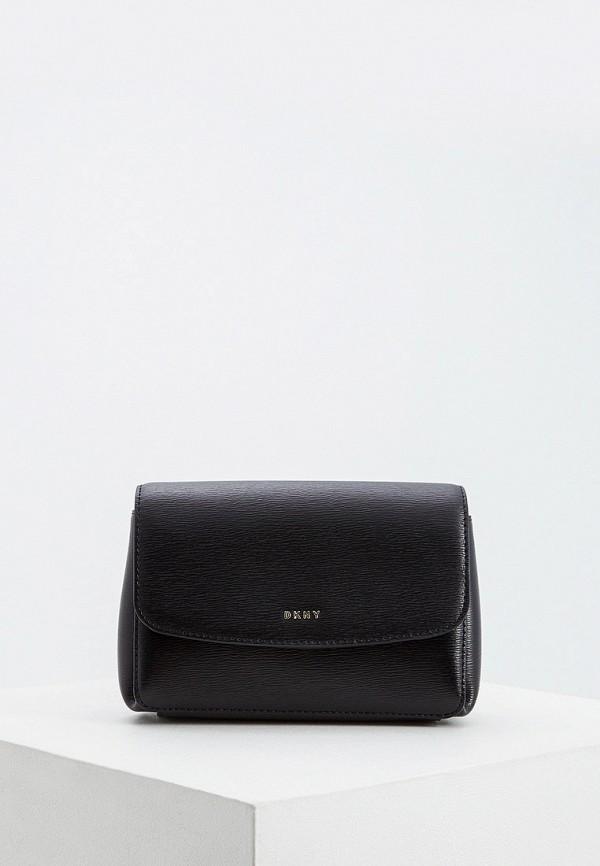 Фото - Сумку поясная DKNY черного цвета
