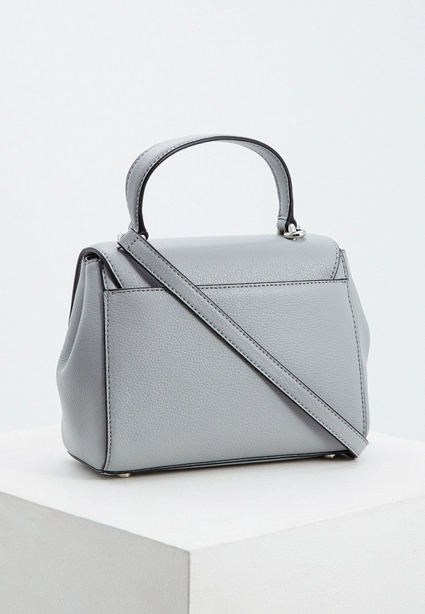 Фото 2 - женскую сумку DKNY серого цвета