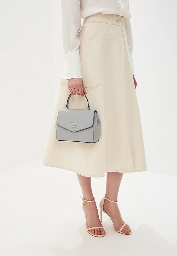 Фото 5 - женскую сумку DKNY серого цвета