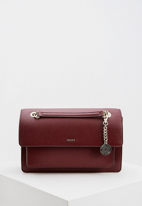 женская сумка dkny, бордовая