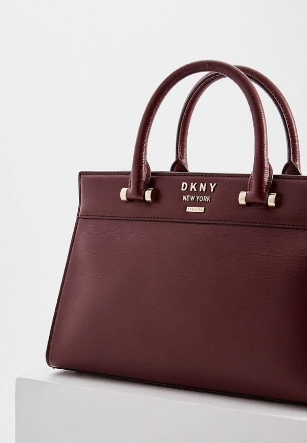 Фото 3 - женскую сумку DKNY бордового цвета