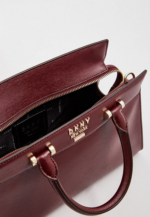 Фото 5 - женскую сумку DKNY бордового цвета