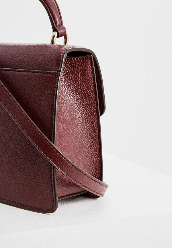 Фото 4 - женскую сумку DKNY бордового цвета